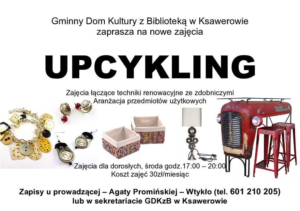 plakat informacyjny, upcykling