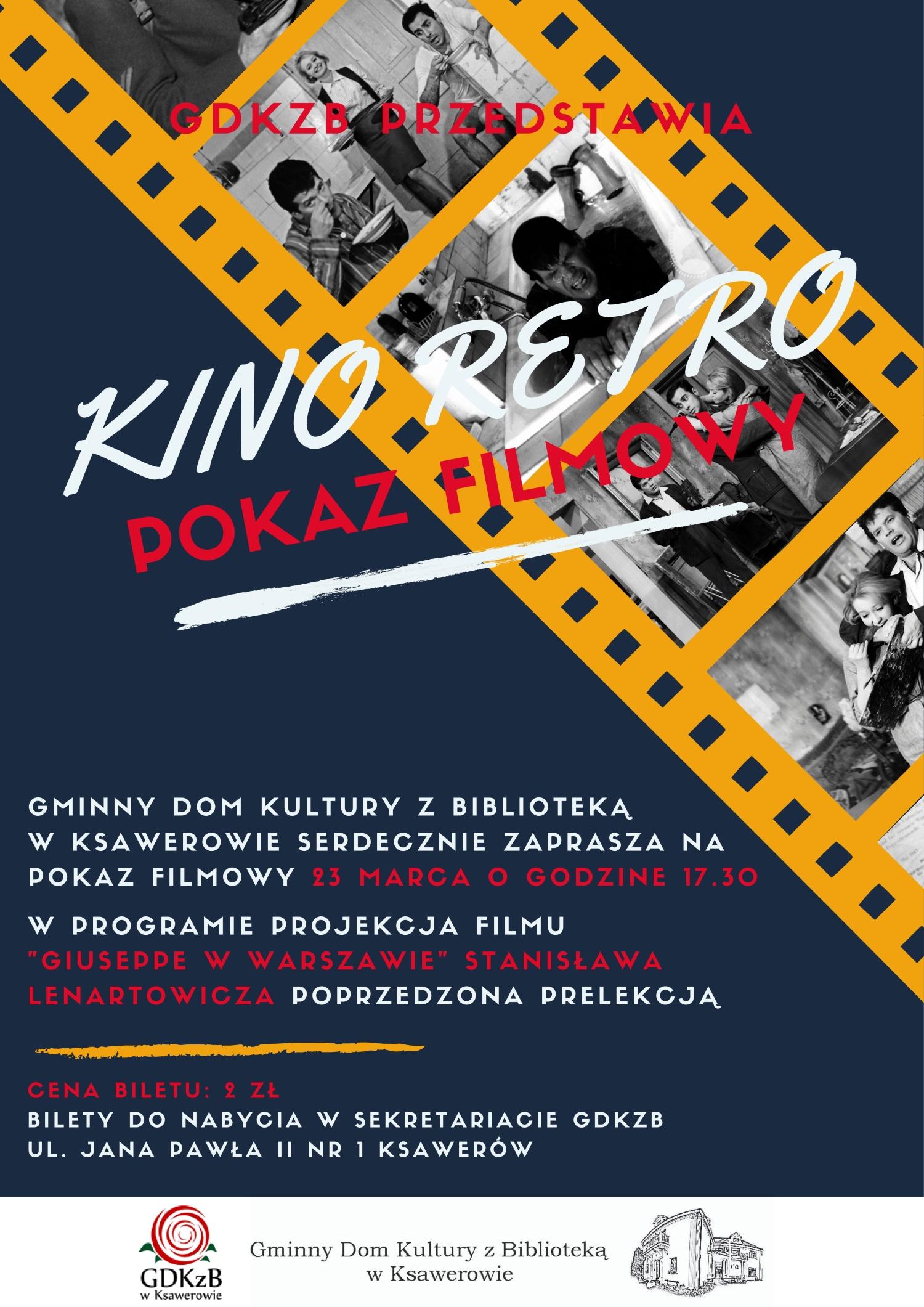 Kino retro zaproszenie