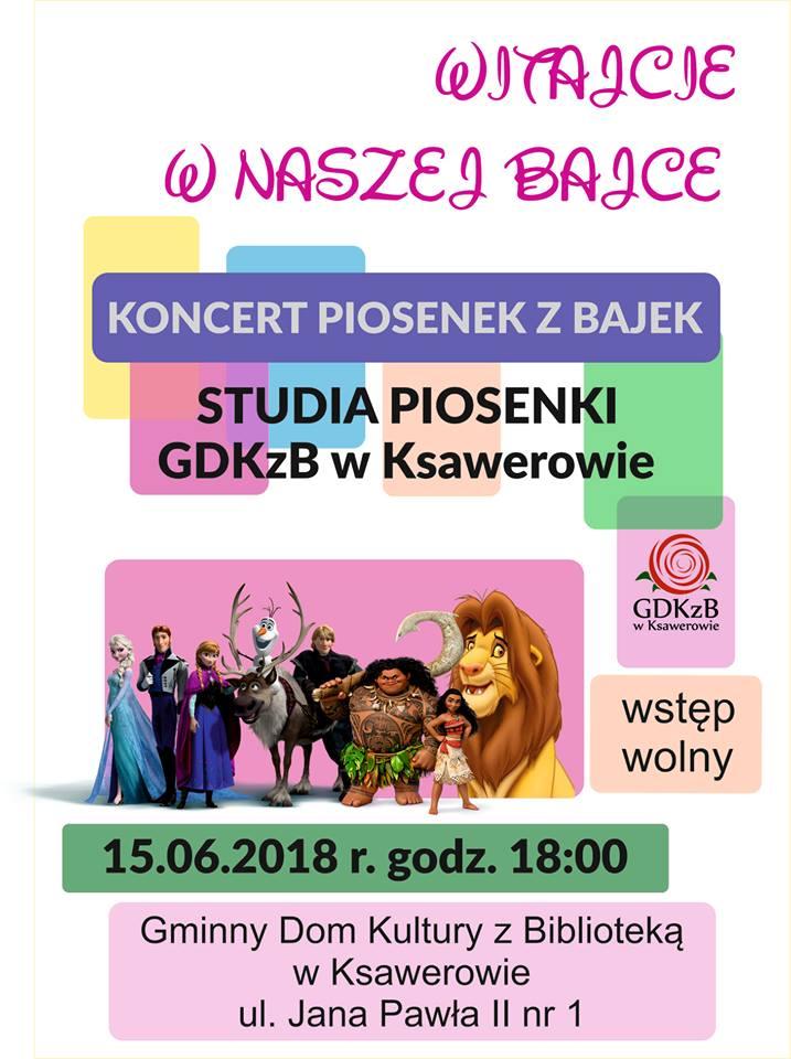 Zaproszenie na koncert Piosenki filmowej