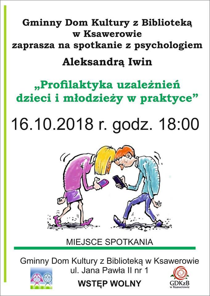 Zaproszenie na spotkanie z psychologiem