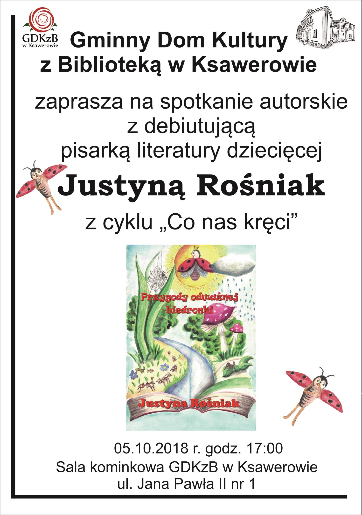 Spotkanie z Justyną Rośniak