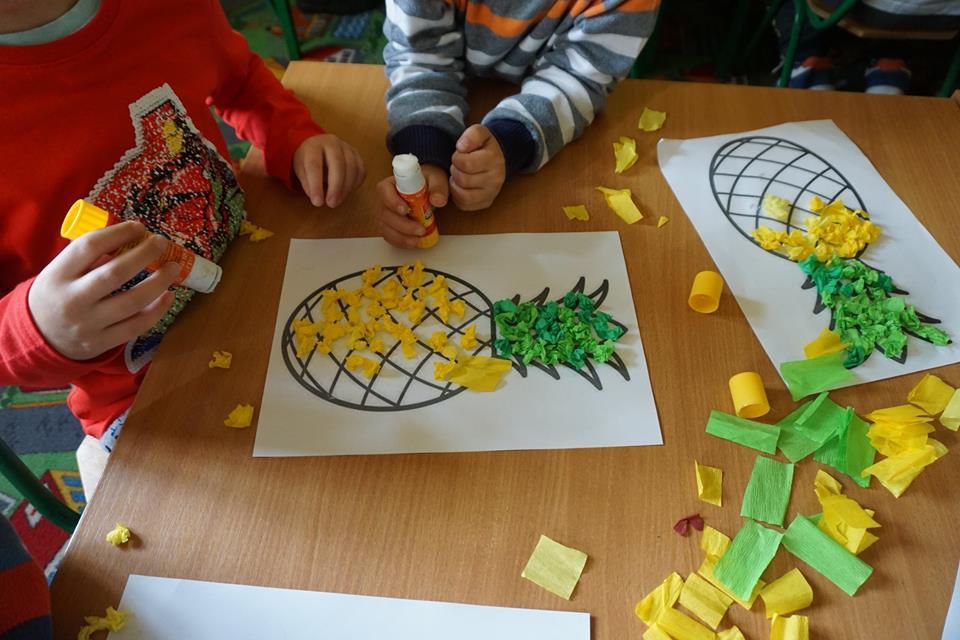 wyklejanki ananas