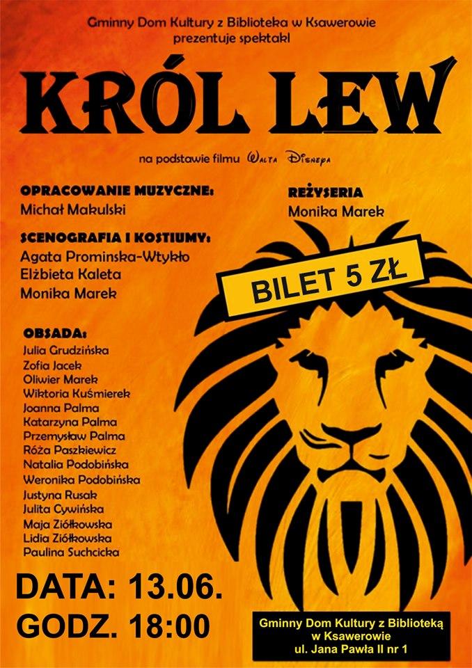 Spektakl król lew, teatr GDKzB