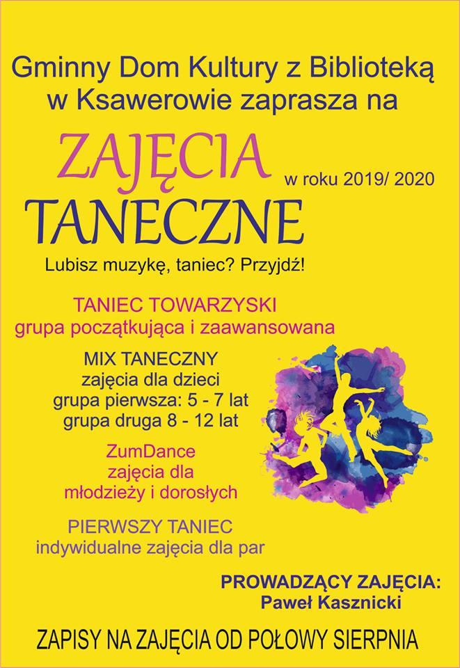 Zajęcia taneczne,  taniec z Pawłem Kasznickim