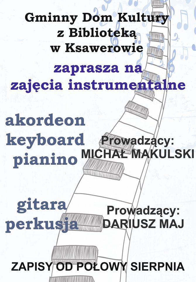 zajęcia instrumentalne, zapisy