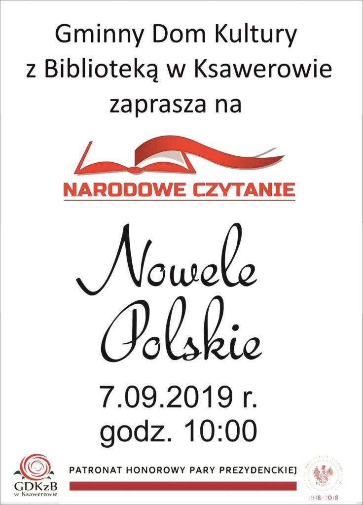 Zaproszenie na narodowe czytanie