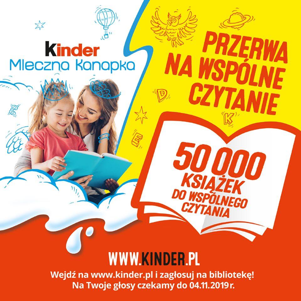konkurs kinder, głosowanie na bibliotekę