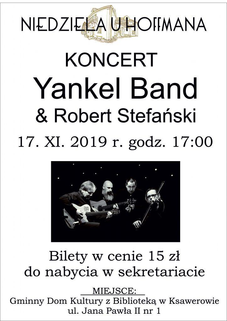 Zaproszenie na koncert Yankel Band