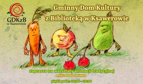 plakat zajęcia animacja