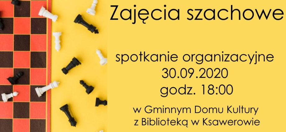 plakat informacyjny szachy