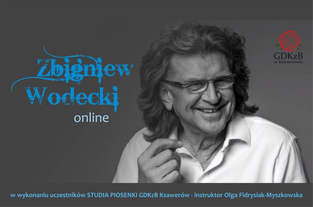 zaproszenie na koncert w wykonaniu studia piosenki gDKzB. Na zdjęciu Zbigniew Wodecki
