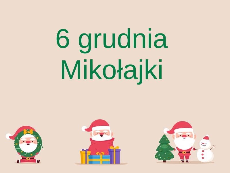 kartka z kalendarza 6 grudnia mikołajki