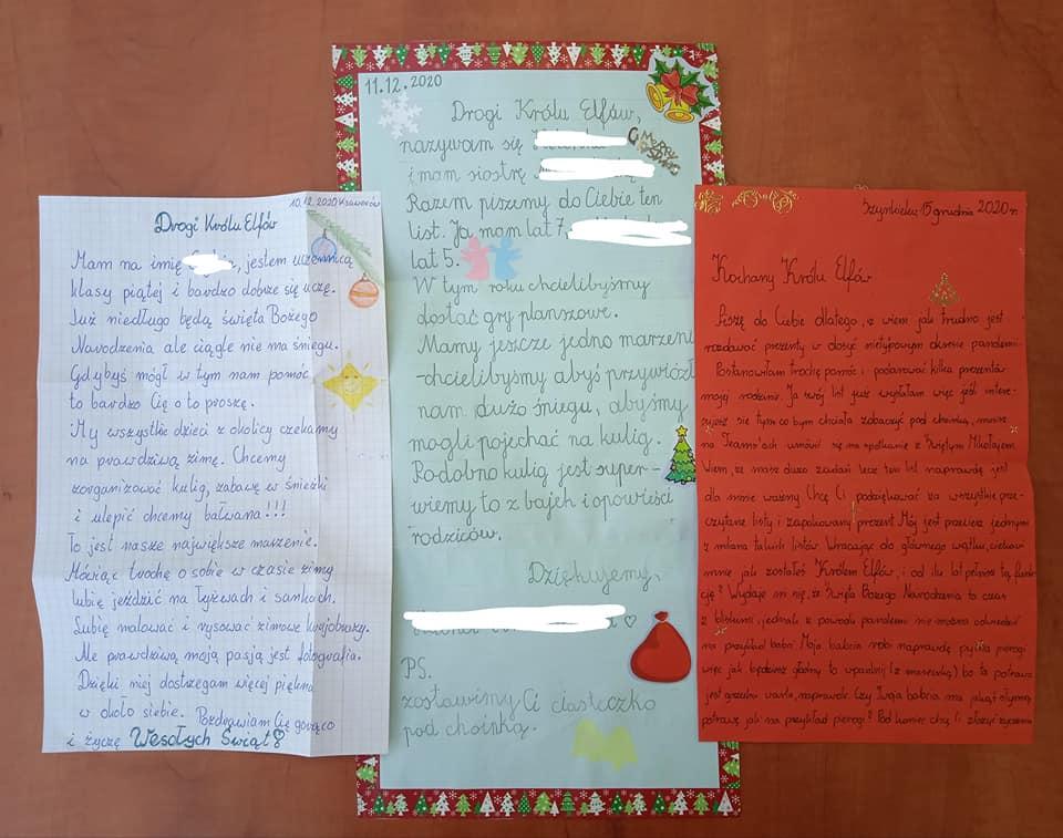 nagrodzone listy do króla Elfów