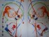 malowane sznurkiem