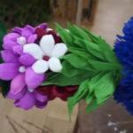 kolorowa palma z kwiatków z bibuły